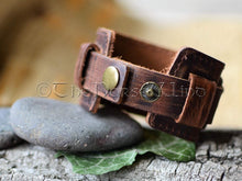 Load image into Gallery viewer, Viking Leather Bracelet, Name in Runes Norse Wristband - Brown/Black TheNorseWind