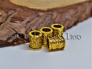 Viking Beard Beads Golden Hair Rings TheNorseWind
