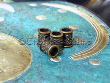 Load image into Gallery viewer, Celtic Beard Beads Bronze Hair Rings TheNorseWind