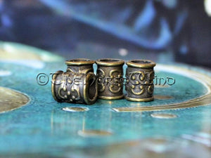 Celtic Beard Beads Bronze Hair Rings TheNorseWind