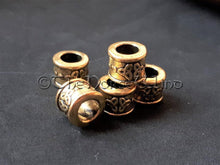 Load image into Gallery viewer, Viking Beard Beads, Celtic Knot Gold Dreadlocks TheNorseWind