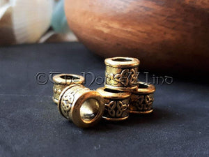 Viking Beard Beads, Celtic Knot Gold Dreadlocks TheNorseWind