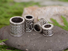 Load image into Gallery viewer, Viking Beard Rings - Set of 4 Beads #1 TheNorseWind