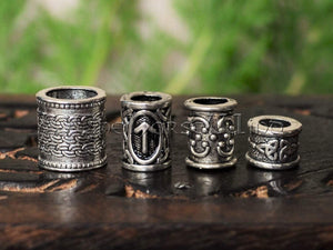 Viking Beard Rings - Set of 4 Beads #1 TheNorseWind