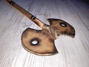 Viking Double Bit Axe Medieval Battle Axe, LARP Weapon TheNorseWind
