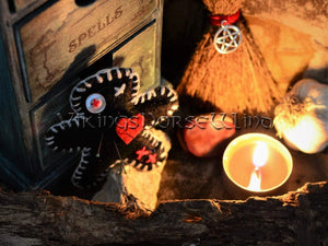 Voodoo Doll, Mini Witch Poppet, Hoodoo Decor TheNorseWind