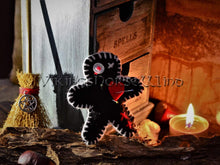 Load image into Gallery viewer, Voodoo Doll, Mini Witch Poppet, Hoodoo Decor TheNorseWind