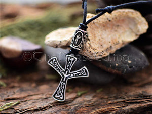 Viking Necklace, Algiz Rune Silver Pendant TheNorseWind