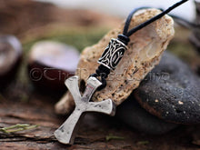Load image into Gallery viewer, Viking Necklace, Algiz Rune Silver Pendant TheNorseWind