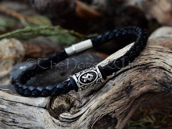 Viking Rune Bracelet with Futhark Rune in Your Choice TheNorseWind