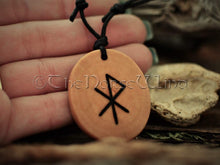 Load image into Gallery viewer, Love Amulet Viking Runes Amulet Attract Love Bind Rune Necklace Love Talisman Handmade Elder Futhark Asatru Norse Mythology Wicca Pagan TheNorseWind