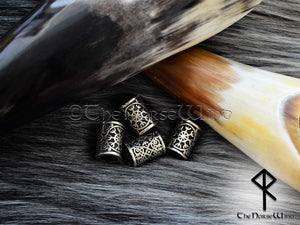 Helm of Awe Viking Beard Beads, Aegishjalmur Hair Beads Celtic Beard Rings TheNorseWind