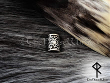 Load image into Gallery viewer, Black Sun Large Viking Beard Beads, Schwarze Sonne Hair Rings, Sun Wheel TheNorseWind