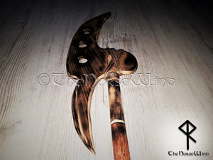 Viking Wooden Axe, LARP Weapon, Bardiche Axe, Wall Decor TheNorseWind