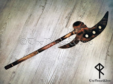 Load image into Gallery viewer, Viking Wooden Axe, LARP Weapon, Bardiche Axe, Wall Decor TheNorseWind