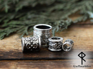 Viking Beard Beads Set of 4 Hair Rings #2 TheNorseWind