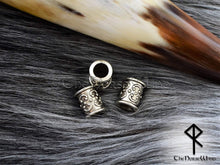 Load image into Gallery viewer, Viking Beard Beads Set of 4 Hair Rings #2 TheNorseWind