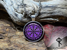 Load image into Gallery viewer, Viking Necklace Helm of Awe / Aegishjalmur Silver Rune Necklace TheNorseWind