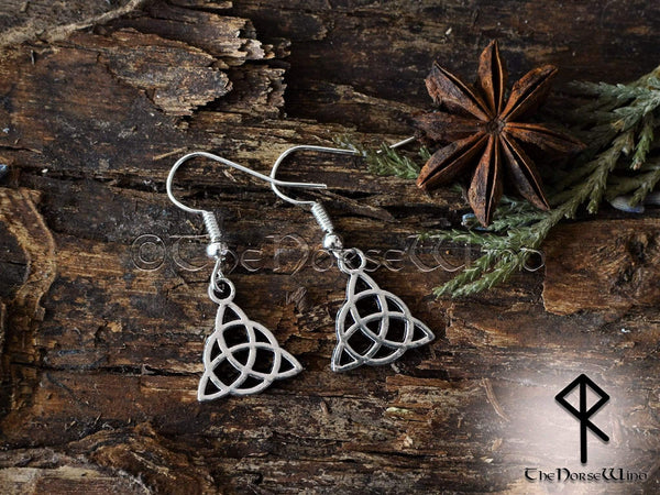Celtic Knot Earrings Trinity Pagan Earrings Triquetra Viking Earrings Silver Asatru Celtic Jewelry Viking Jewelry Norse TheNorseWind
