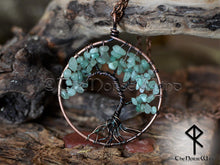 Load image into Gallery viewer, Celtic Tree of Life Pendant, Yggdrasil Necklace with Green Aventurine Crystal, Good Luck Viking Amulet, World Tree Necklace, Norse Mythology TheNorseWind