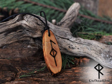 Load image into Gallery viewer, Viking Necklace Runes Amulet Good Health, Healing Amulet / Talisman Norse Mythology Asatru Pendant Wicca Pagan Bind Rune Viking Jewelry TheNorseWind