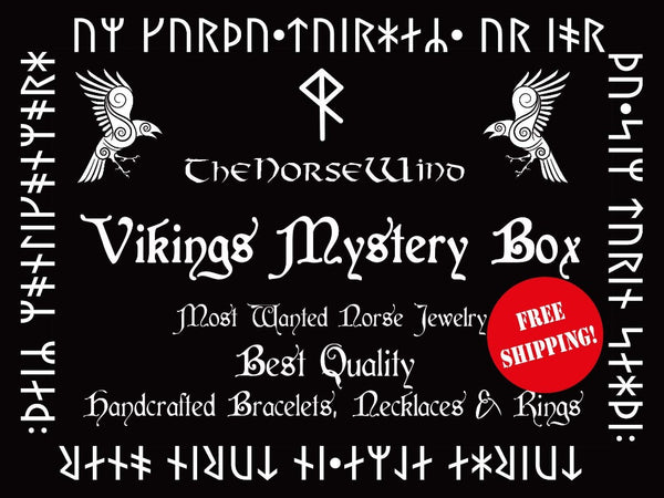 Viking Jewelry Mystery Box, Viking Gift Set of Necklace, Norse Bracelet and Ring, Best Collection of Viking Jewelry Gift Box Norse Mythology TheNorseWind