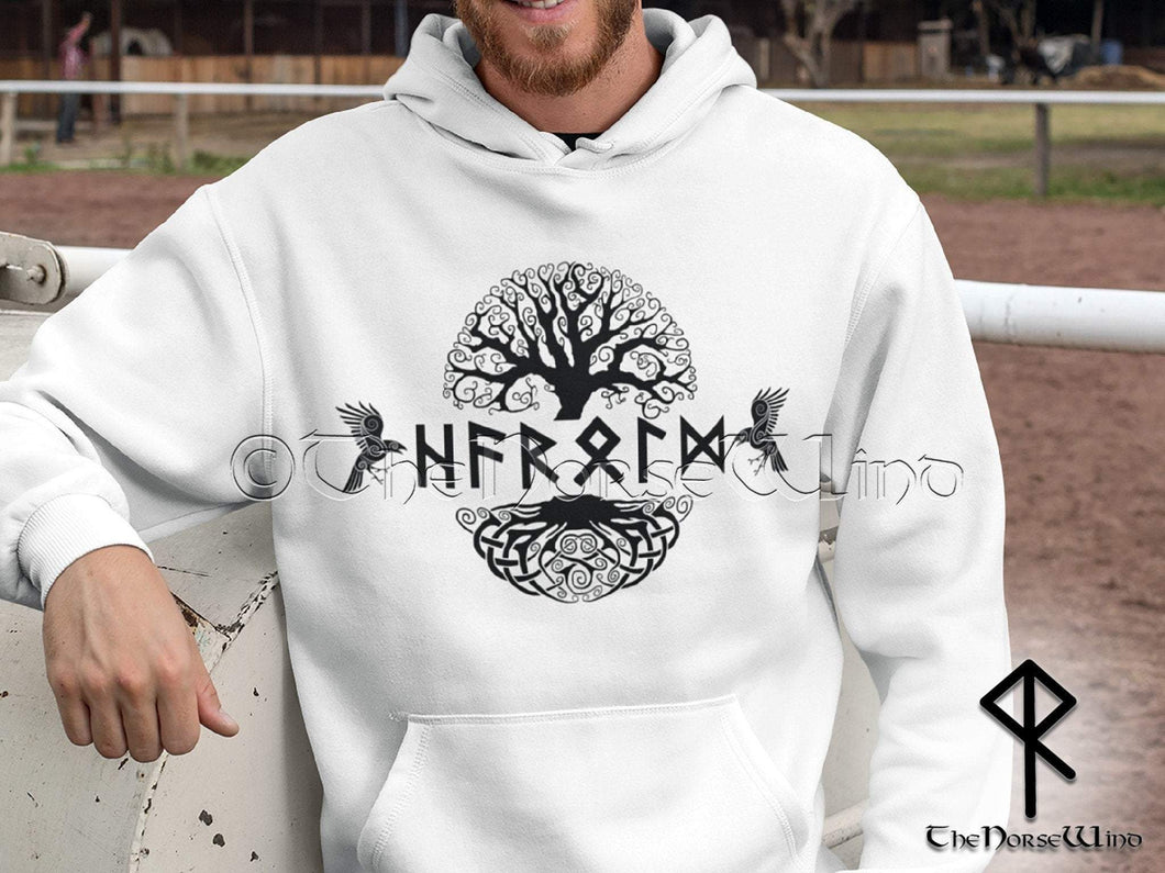 Viking Hoodie Personalized Norse Sweatshirt Name in Runes TheNorseWind