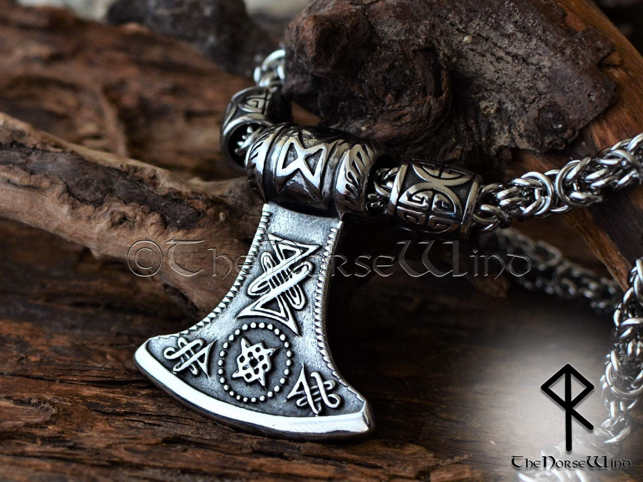 Silver Color Axe Gift Strength amulet Viking axe necklace Norse mythology pendant Axe Necklace,Viking jewellery