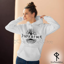 Load image into Gallery viewer, Viking Hoodie Personalized Norse Sweatshirt Name in Runes TheNorseWind