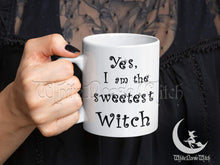 Load image into Gallery viewer, Yes I am the Sweetest Witch - Wicca Coffee Mug 11oz TheNorseWind