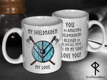 Load image into Gallery viewer, Viking Shieldmaiden Mug, Anniversary Gift for Wife or Girlfriend TheNorseWind