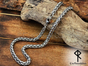 Viking Necklace Stainless Steel Wheat / Spiga Chain for Men & Women