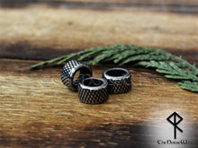 Load image into Gallery viewer, Viking Beard Beads, Stainless Steel Hair Rings