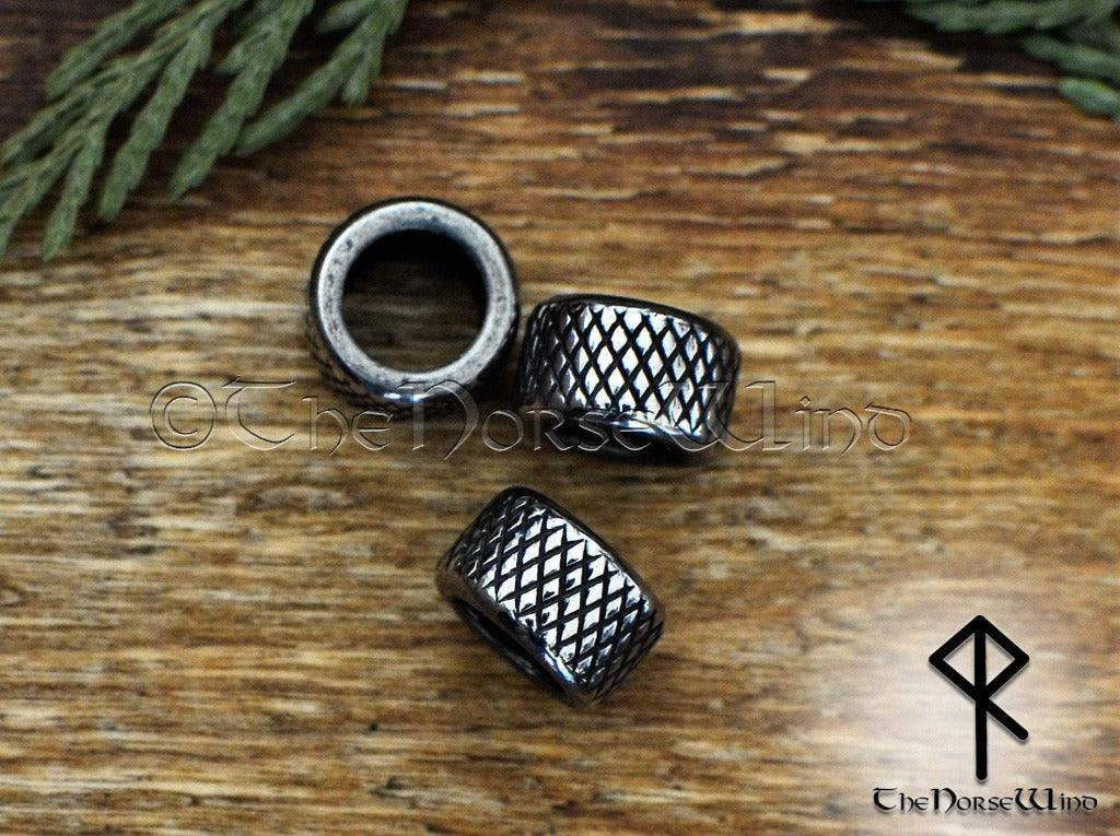Viking Beard Beads, Stainless Steel Hair Rings