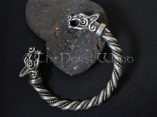 Load image into Gallery viewer, Viking Bracelet Fenrir Wolf Head Arm Ring TheNorseWind