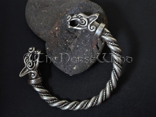 Viking Bracelet Fenrir Wolf Head Arm Ring TheNorseWind