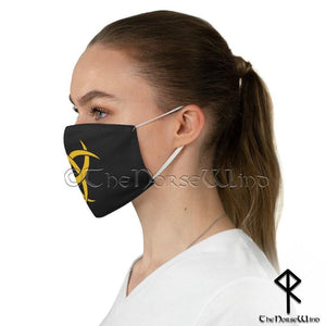 Odin's Horn Viking Face Mask, Triple Horn of Odin / Biohazard Fabric Face Mask