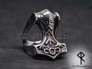 Thor's Hammer Ring, Viking Mjolnir Odin Ring - TheNorseWind