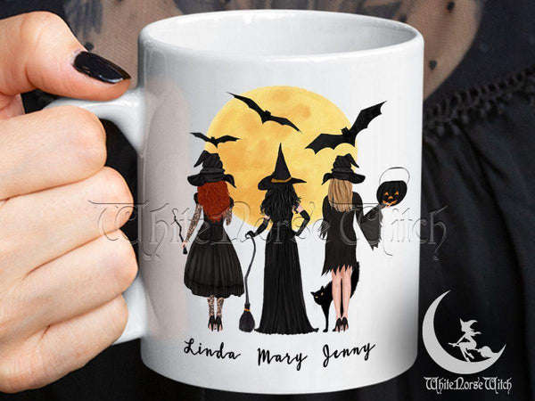 Witch Best Friends Mug Personalized Halloween Mug - TheNorseWind