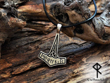 Load image into Gallery viewer, Thors Hammer Necklace Viking Mjolnir Pendant TheNorseWind