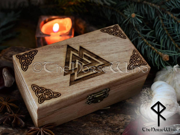 Valknut Box, Viking Decor Norse Runes / Tarot Box, Viking Altar - TheNorseWind