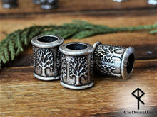 Load image into Gallery viewer, Yggdrasil Viking Beard Beads, Celtic Tree of Life Hair Rings - TheNorseWind