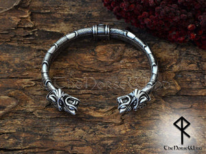 Viking Fenrir Wolf Bracelet Celtic Knots Arm Ring