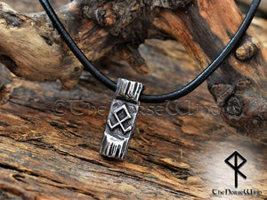 Othala Rune Viking Necklace, Norse Odal Rune Prosperity Amulet, Stainless Steel - TheNorseWind
