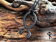 Load image into Gallery viewer, Troll Cross Viking Necklace, Norse Trollkors Odal / Othala Rune Protection Amulet - TheNorseWind