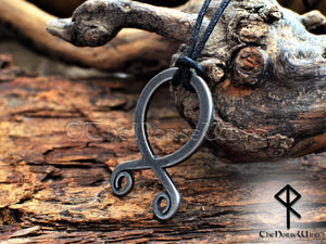 Troll Cross Viking Necklace, Norse Trollkors Odal / Othala Rune Protection Amulet