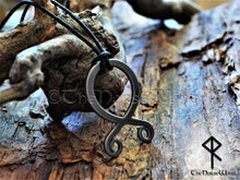 Load image into Gallery viewer, Troll Cross Viking Necklace, Norse Trollkors Odal / Othala Rune Protection Amulet