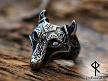 Load image into Gallery viewer, Viking Wolf Ring - Fenrir