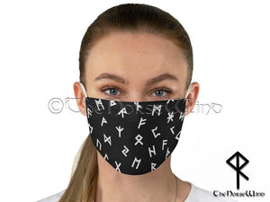 Viking Runes Face Mask - Reusable and Washable 2 Layers Fabric Face Cover