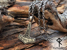 Load image into Gallery viewer, Viking Thor's Hammer Necklace Mjolnir TheNorseWind